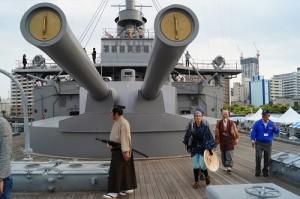 戦艦三笠甲板